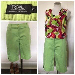 Lime green board shorts